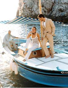 Capri by boat, stylish