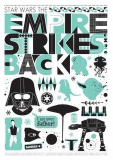 Star Wars silhouette print! Love.