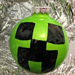 Make a Minecraft Creeper Christmas Ornament