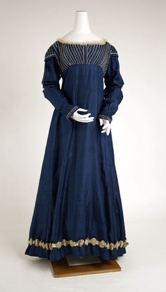 Dress, c. 1815. Empire/Regency era.