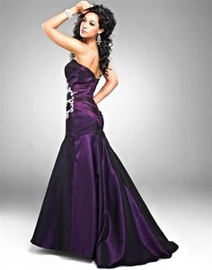 Image detail for -Eggplant Wedding Dresses for Evening | classywed   #CupcakeDreamWedding