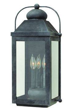 Buy the Hinkley Lighting 1855DZ Aged Zinc Direct. Shop for the Hinkley Lighting 1855DZ Aged Zinc 3 Light Outdoor Lantern Wall Sconce from the Anchorage Collection and save.