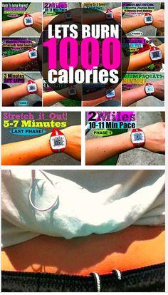 1000 calorie workout!!