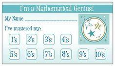 Multiplication Punch Card: LOVE it! next vistaprint order!