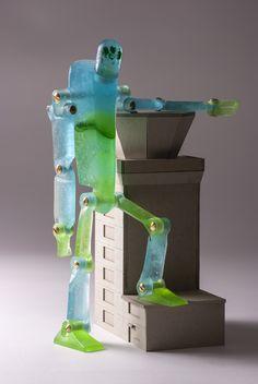 glass robot, height: 31 cm #glassart #glass #robot #glassrobot