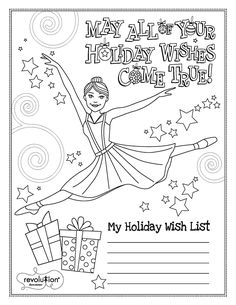 Happy Holidays Coloring Pages New 2014 Holiday Coloring Page Ballerina Coloring Pages, Dance Coloring Pages, People Coloring Pages, Sports Coloring Pages, Detailed Coloring Pages, Alphabet Coloring Pages, Coloring Pages For Girls, Colouring Pages, Coloring For Kids