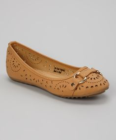 Tory Klein Camel Cutout Strap Flat by Tory Klein Ballerina Shoes, Ballet, Wedge Shoes, Flat Shoes, Shoe Display, Leather Design, Me Too Shoes, Camel, Purses And Bags