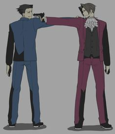 Image result for phoenix wright and miles edgeworth