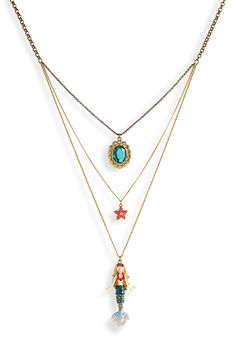 Great mermaid necklace but i don't know if i could pull it off. the mermaid is HUGE Mermaid Tale, Cute Mermaid, Head Jewelry, Cute Jewelry, Jewellery, Mermaid Necklace, Mermaid Jewelry, Watch Necklace, Ring Earrings
