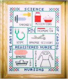 Nurse Sampler cross stitch pattern.