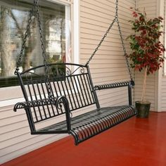Wrought Iron Porch Swing