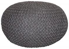Jute Knitted Pouf | Block & Chisel | ZAR 2,495 Knitted Pouf, Jute, Ottomans, Stools, Chairs, Loft, Decor, Baby, Products