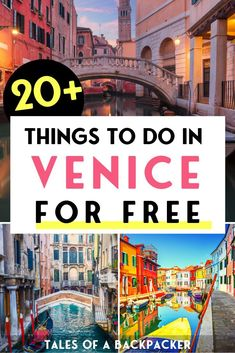 20 Things to do in Venice for Free - Although Venice is expensive you can still visit Venice on a budget. Here are 20 free things to do in Venice to make the most of Venice for free! Things To Do In Italy, Free Things To Do, Amalfi, Positano, Places To Travel, Places To Go, Italy Travel Tips, Budget Travel, Travel Europe