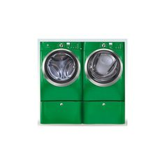 Kelly Green Electrolux Washer and Dryer | Dwell **ultimate wish list item**