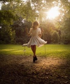 (Open RP) I was just swinging on this swing in the tree I found in the forest. I was laughing as I start to twirl around on it when I hear a twig snap...