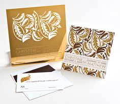 Etched #metal #invitations