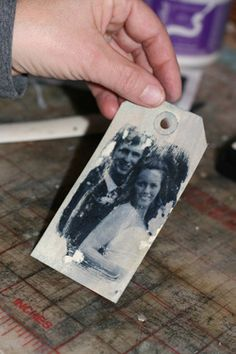 DIY Photo Tags Tutorial ~ These make great embellishments for your heritage pages!