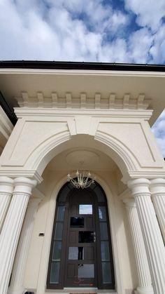 Proiect Casa Rezidentiala Bacau 2 – Profile Decorative House Pillars, Facade House, Wainscoting, Home Fashion, Sunroom, Terrace, Villa, Exterior, Patio