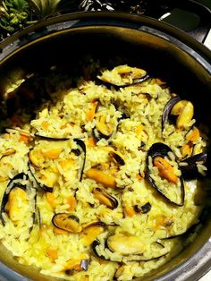 Paella, Seafood, Spaghetti, Food And Drink, Fish, Ethnic Recipes, Desserts, Food And Drinks, Sea Food
