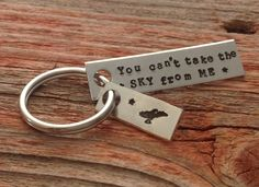 Hand stamped You can't take the sky from me by craftylikeamonkey