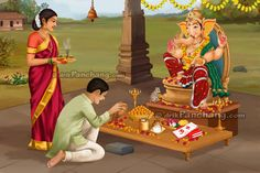 September - Ganesh Chaturthi is celebrated as birth anniversary of Lord Ganesh. On Ganesh Chaturthi, Lord Ganesh is worshipped as the god of wisdom, prosperity and good fortune.