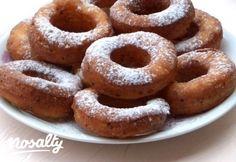 Túrókarika | Nosalty Hungarian Recipes, Onion Rings, Doughnut, Cookies, Baking, Ethnic Recipes, Desserts, Food, Ideas