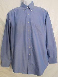 Size 16 4/5 *Brooks Brothers* 346 *Long Sleeve Original Polo Dress Shirt Reg.Fit #BrooksBrothers