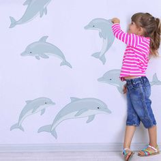 Dolphin Wall Decal Set