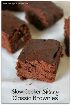Slow Cooker Skinny Classic Brownies