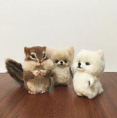 Beautiful Needle felting wool cute animals (Via @chikuchikuchick)