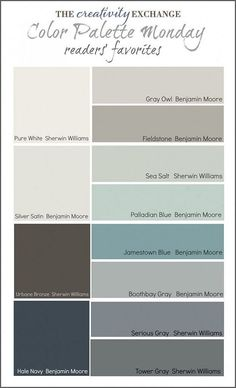 Popular Color Palette Ideas. Readers Favorite Paint Color. #FavoritePainteColor #PopularPaintColor #PopularColoPalette  Via thecreativityexchange