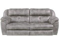 Catnapper Ferrington Power Headrest Lay-Flat Reclining Sofa - Virginia Furniture Market - Reclining Sofas
