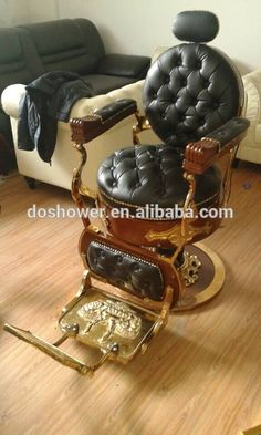Source DS-L091Black and golden color europe old style antique barber chair on m.alibaba.com
