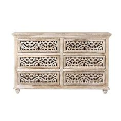 Home Decorators Collection, Maharaja 6-Drawer Chest in Sandblast White, 1472600820 at The Home Depot - Mobile