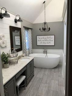 Master bath farmhouse style  #BathroomRemodeling