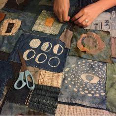 Quilt Story Exchange ' s work in progress Spirit Cloth!