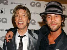David Bowie with Jay Kay of Jamiroquai