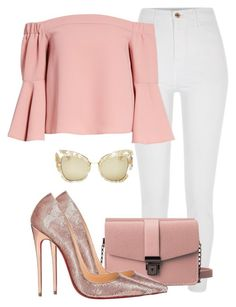 A fashion look from February 2018 by itsmariahi featuring Topshop, River Island, Christian Louboutin, Dolce&Gabbana, 2018 and itsmariahi Teen Fashion Outfits, Girly Outfits, Cute Casual Outfits, Look Fashion, Stylish Outfits, Fashion Design, Moderne Outfits, Mode Vintage, Christian Louboutin
