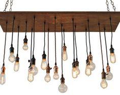 Encargo para un gran vivo borde losa lámpara con por 7MWoodworking