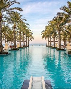 Al Bustan Palace - Oman 🌴🌴🌴 Credits ✨ . for a feature 💛 Beautiful Pools, Beautiful Places, Oman Travel, Dubai Travel, Palmiers, Hotel Pool, Grand Mosque, Dream Vacations, Middle East