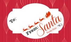Free printable From: Santa Gift Tags!