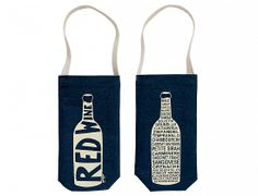 Denim Red Wine Tote