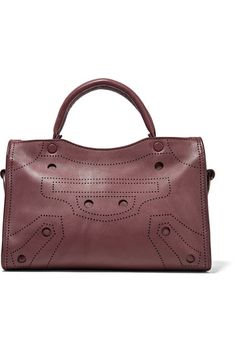 Burgundy leather (Calf) Two-way zip fastening along top Weighs approximately 2lbs/ 0.9kg Made in Italy