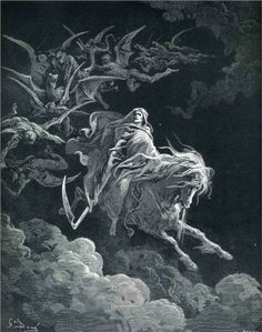 Satan in Paradise - Gustave Dore. Dore detailed Dante's travels through Hell and Paradise with wonderful prints, absolutely stunning.