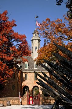 Colonial Capitol, Colonial Williamsburg, VA-Autumn
