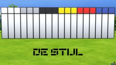 De Stijl Wall Panels (Top) #2 for #TheSims4  http://www.simsnetwork.com/downloads/the-sims-4/build/de-stijl-wall-panels-top-2