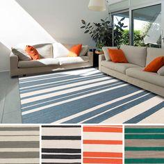 Miramar Flatweave Striped Area Rug (5' x 8') - Overstock™ Shopping - Great Deals on 5x8 - 6x9 Rugs  in orange....
