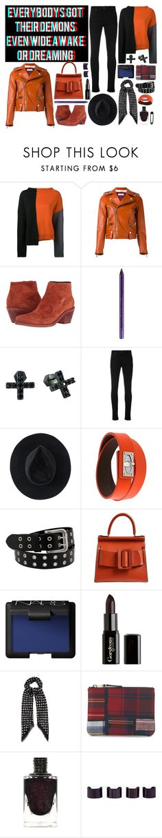 """""""casual demon"""" by nothingisnormal ❤ liked on Polyvore featuring Marni, Golden Goose, McQ by Alexander McQueen, NYX, Nicole Miller, Vivienne Westwood Red Label, Ryan Roche, Givenchy, Boyy and NARS Cosmetics"""