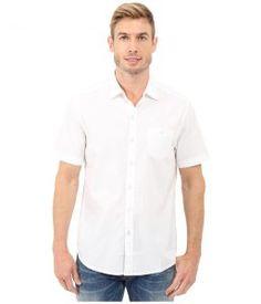 Tommy Bahama Corvair Cruiser Camp Shirt (White) Men's Clothing