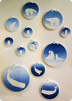 Arctic animals from felt (I'd LOVE to do a nursery in Polar animals)